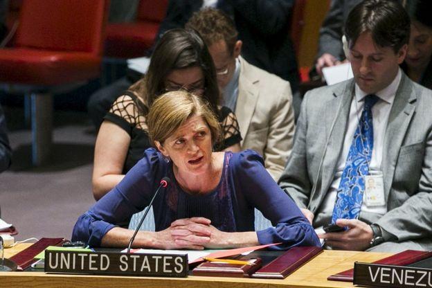سامانتا پاور، نماینده آمریکا در سازمان ملل گفته است رای به این قطعنامه به معنای آن است که عاملان چنین حملاتی باید مجازات شوند
